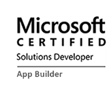 Remigiusz Koczapski is Microsoft Certified Solution Developer - App Builder